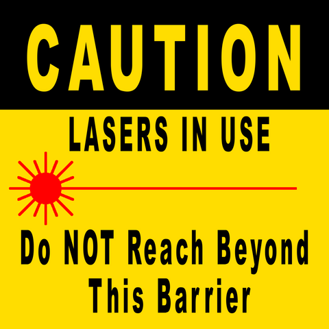 Caution Lasers In Use Floor Sign