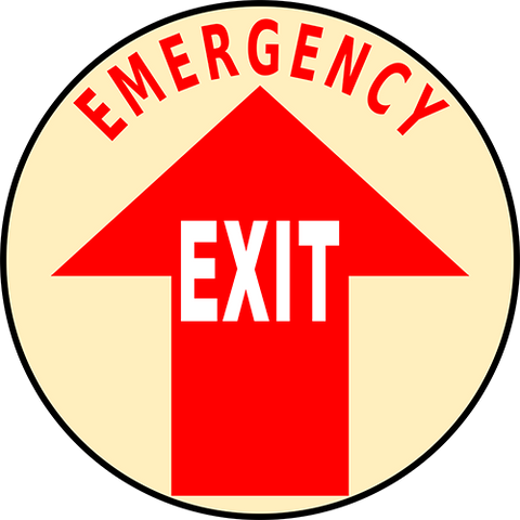 Emergency Exit Floor Sign
