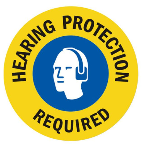 "4"" Hearing Protection Required Multi Color"