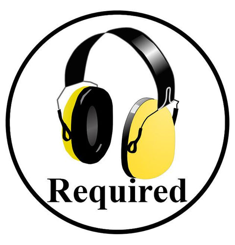 "24"" Hearing Protection Required Sign Visual"