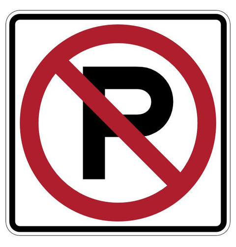"24"" No Parking Permitted Floor Sign"