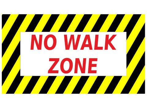 "24"" No Walk Zone Warehouse Floor Sign"