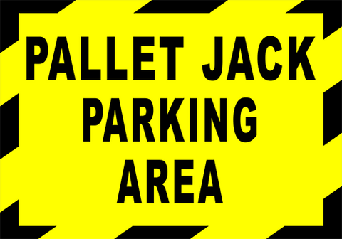 Pallet Jack Parking Area Floor Sign
