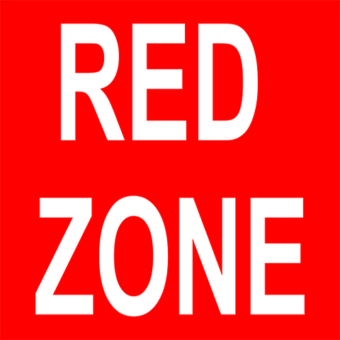Red Zone Floor Sign