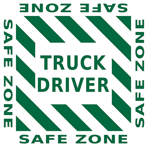 Truck Driver Safe Zone Floor Sign