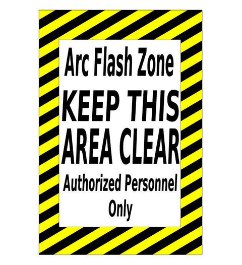 ARC Flash Zone Floor Sign