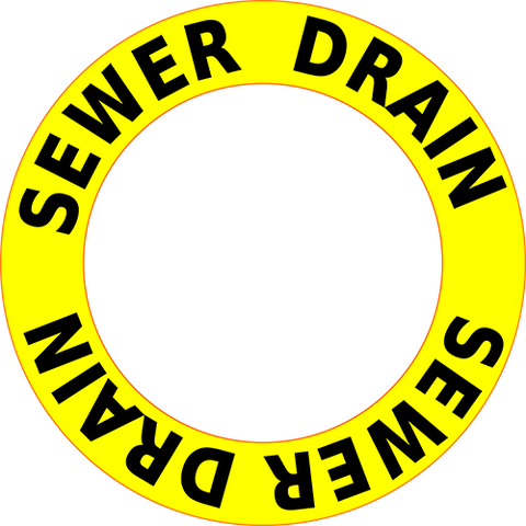 Sewer Drain Floor Sign