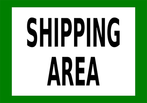 Shipping Area Floor Sign
