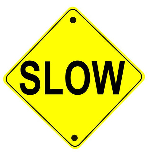 "24"" Caution Slow Area Ahead Floor Sign"