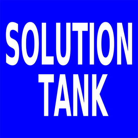 Solution Tank Floor Sign