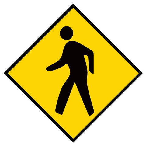 Pedestrian Area Floor Sign