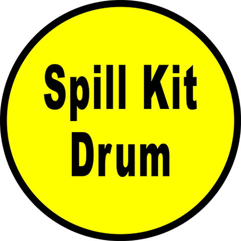 Spill Kit Drum Floor Sign