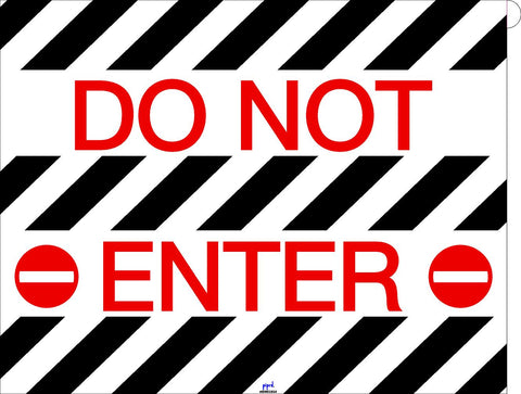 Do Not Enter Floor Sign