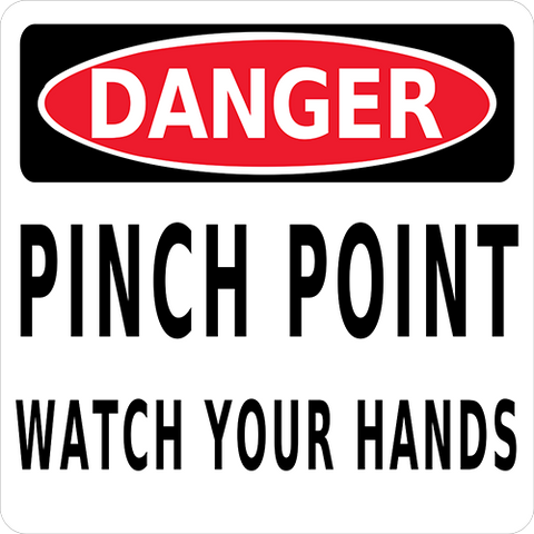 Danger Pinch Point Floor Sign