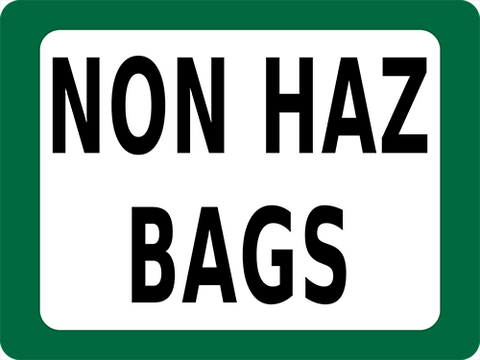 Non Haz Bags Floor Sign
