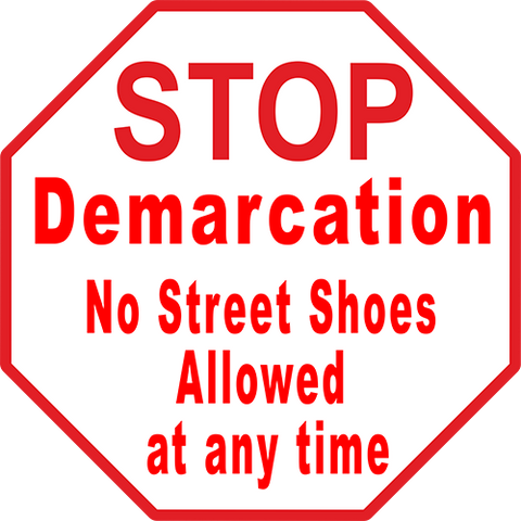 Stop Demarcation Floor Sign