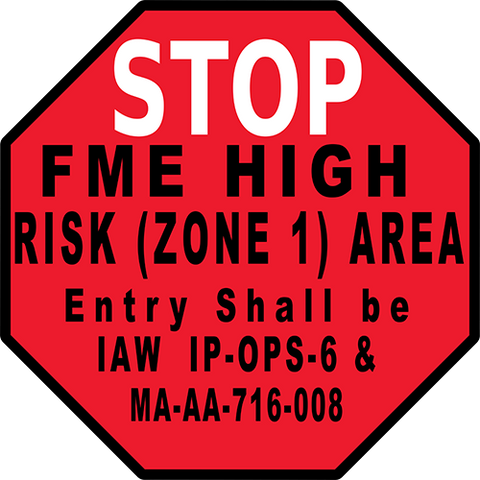 Stop FME High Risk Floor Sign