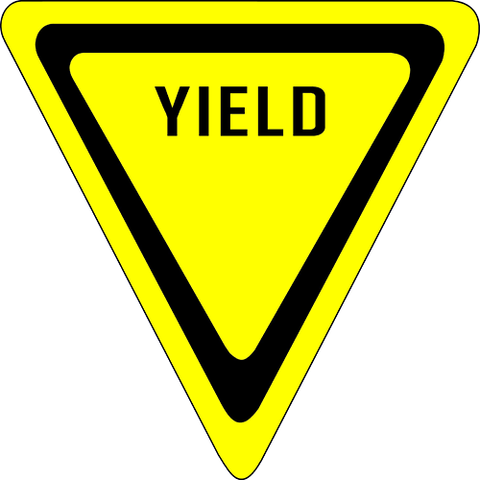 Yield Floor Sign