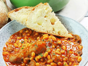 Sausage Casserole with Crusty Bread