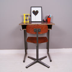 Mama + Max Blue Ticking Back to School Vintage Children's Desk