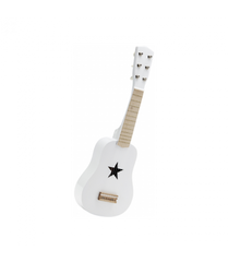 Mama + Max Kid's Concept Wooden Toy Guitar in White