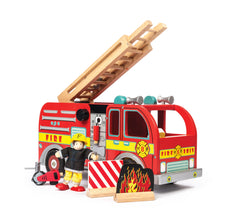 Mama + Max Le Toy Van Fire Engine Set