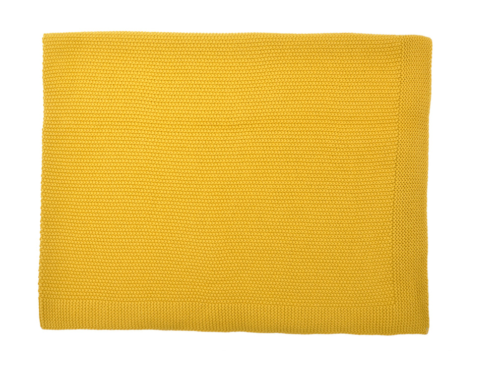 Bou Blanket in Mustard Yellow