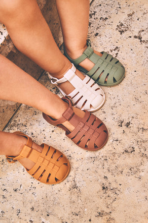 Bre Sandals in Yellow Mellow