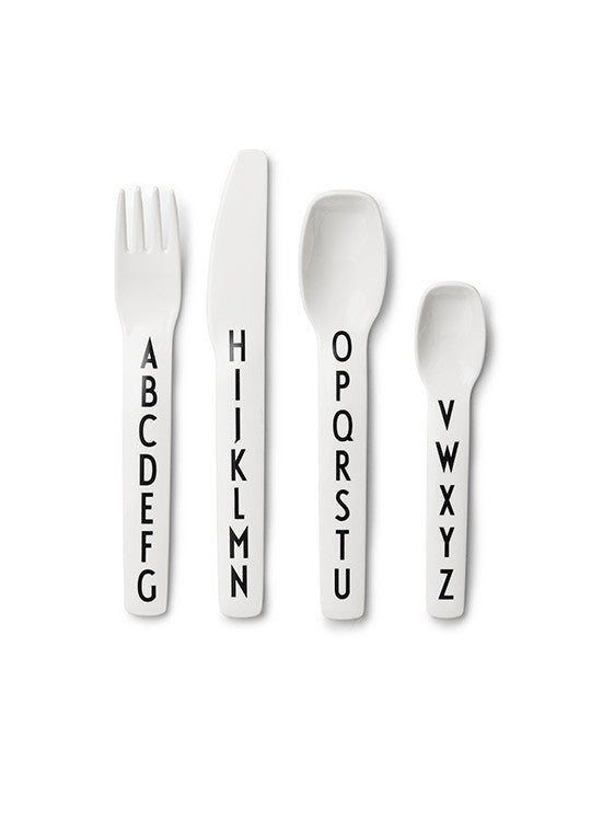 Design Letters Melamine Kids Cutlery Set