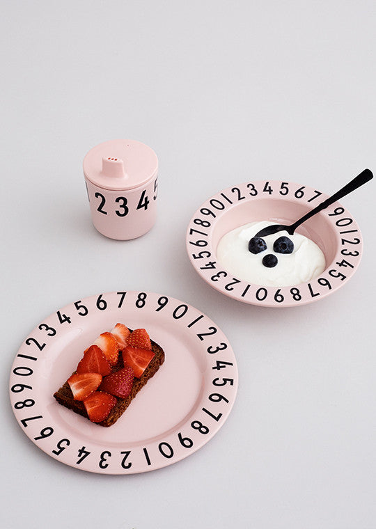 The Numbers Melamine Gift Box in Pink