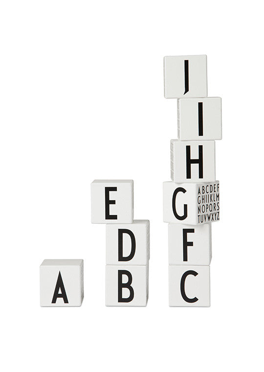 Design Letters Wooden Cubes A to Z