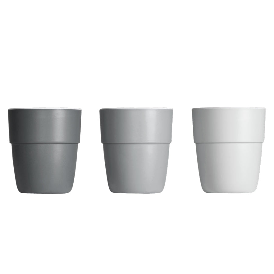 Yummy Mini Mug in Grey Tones (3-pack)