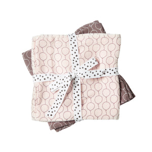 Done by Deer Cotton Muslin Burp Cloths (pack of 2) - Powder Balloons