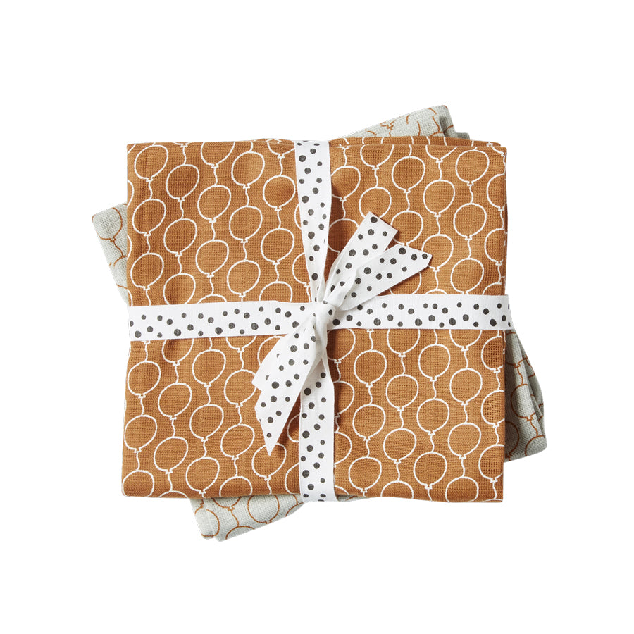 Cotton Muslin Burp Cloths (pack of 2) - Golden Balloons