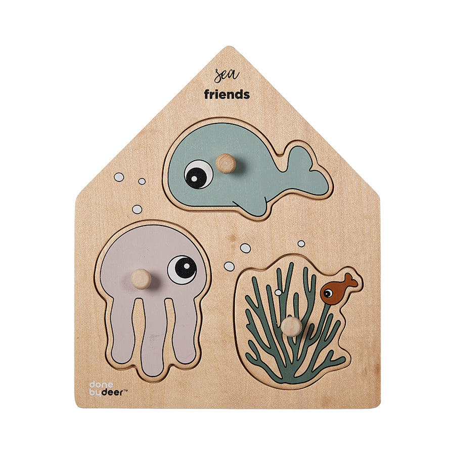 Peg Puzzle Sea Friends