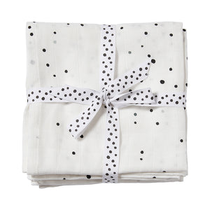 Cotton Muslin Swaddle (pack of 2) - Dreamy Dots White