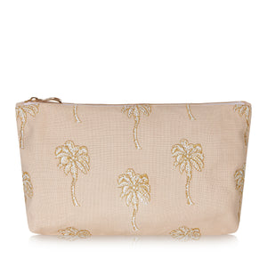 Palmier Taupe Pouch