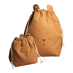 Bear Storage Bag in Ochre
