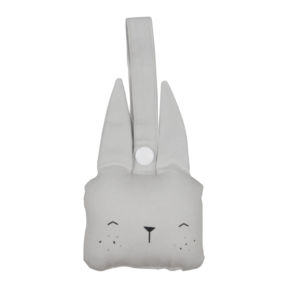 Animal Rattle Bunny in Ice Grey