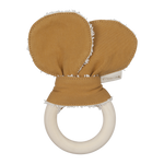 Animal Teether Bear in Ochre