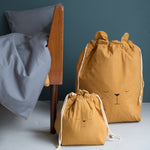 Bear Storage Bag in Ochre - Small