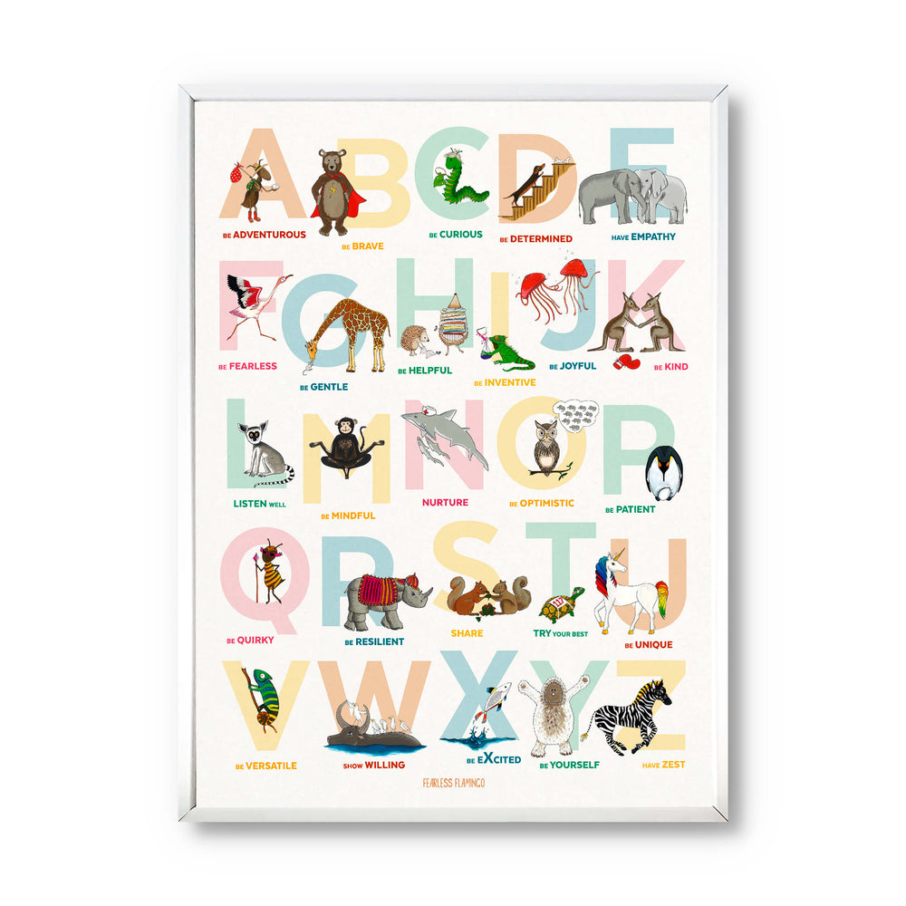 Alphabet of Emotions Print (Portrait)