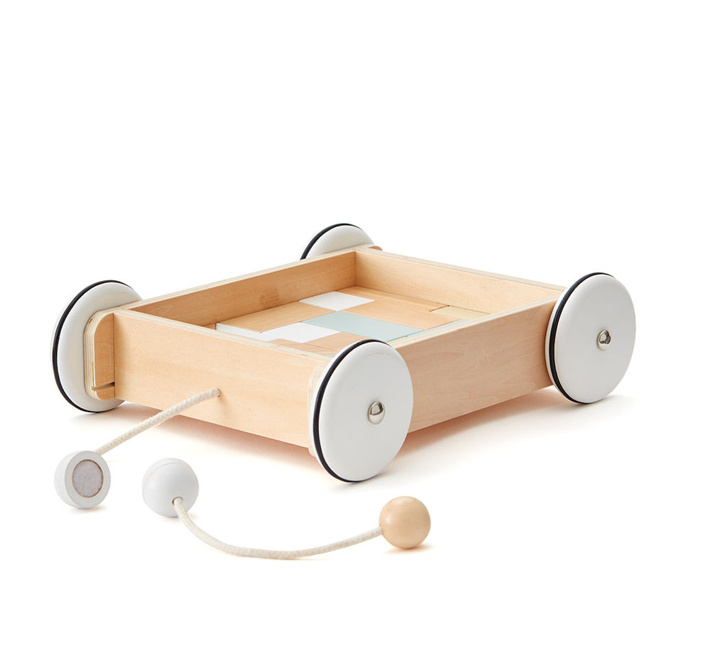 Wooden Wagon with Blocks