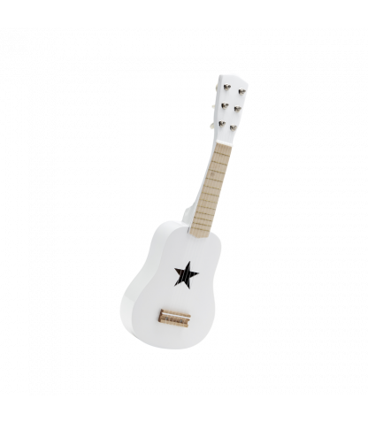 Wooden Toy Guitar in White