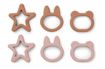 Andy Cookie Cutter (pack of 6) - Rose Mix