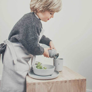 Bamboo Tableware Box Set - Rabbit Dumbo Grey