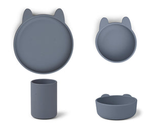Cyrus Silicone Junior Set - Rabbit Blue