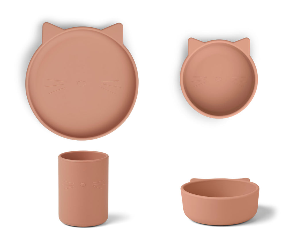 Cyrus Silicone Junior Set - Cat Dark Rose