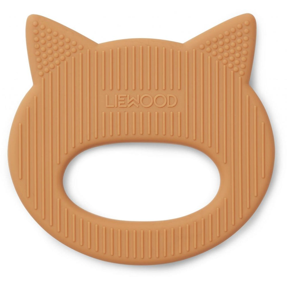 Gemma Silicone Teether - Cat Mustard