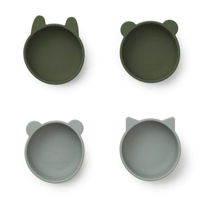 Iggy Silicone Bowls (pack of 4) - Hunter Green Mix